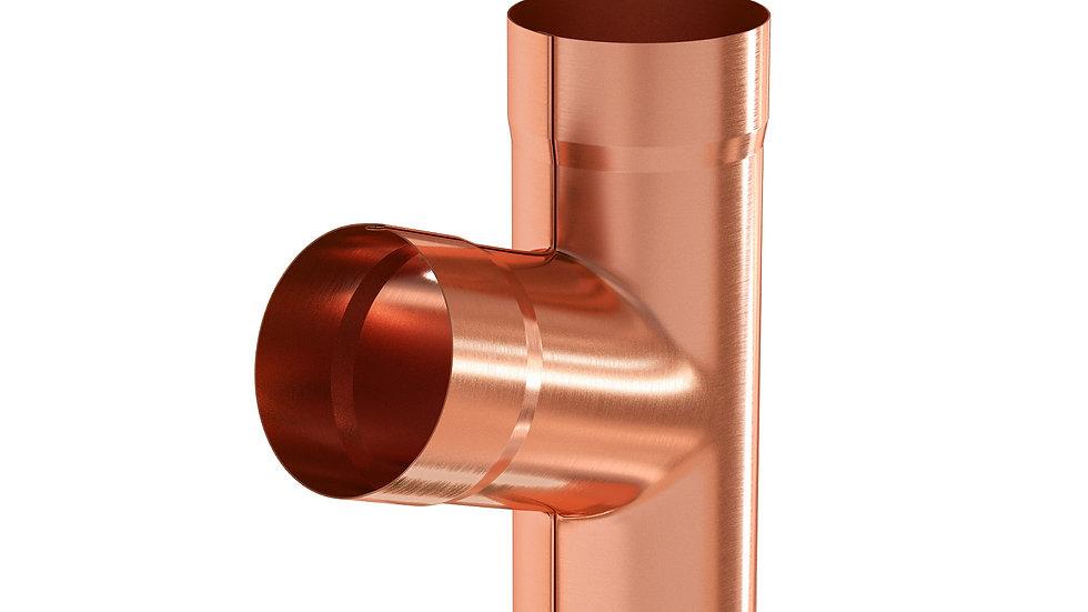 Водосток Aquasystem металл 125/90 Тройник трубы