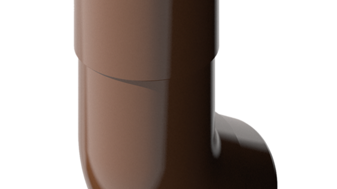 Водосток ПВХ Технониколь 120/80 Колено трубы 108°