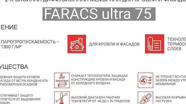 FarAcs ULTRA 75 2-х слойная диффузионная мембрана 70 кв.м.