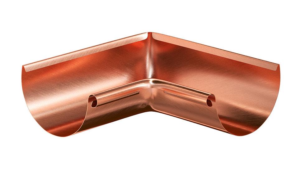 Водосток Aquasystem металл 125/90 Угол желоба 90° внешний/внутренний
