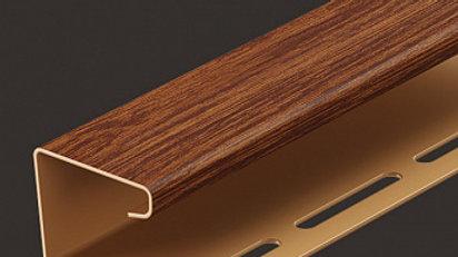 Docke J- профиль  Lux и Premium темные цвета 3,00 м