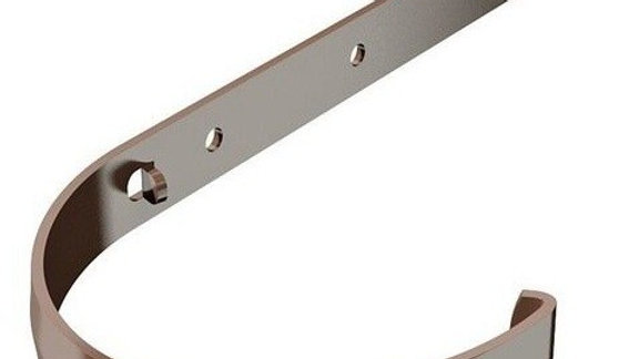Водосток ПВХ Технониколь 120/80 Кронштейн желоба длинный металлический