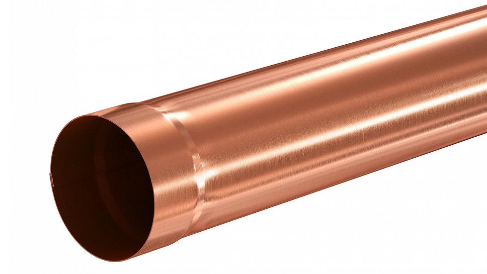 Водосток Aquasystem металл 125/90 Труба соединительная 1 м