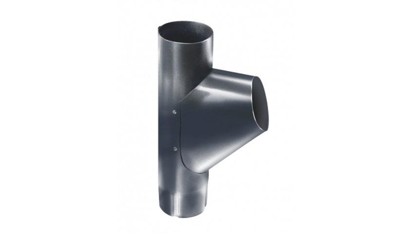 Водосток Grand Line металл 125/90 Гранит Тройник трубы