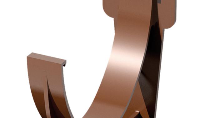 Водосток ПВХ Технониколь 120/80 Кронштейн желоба короткий