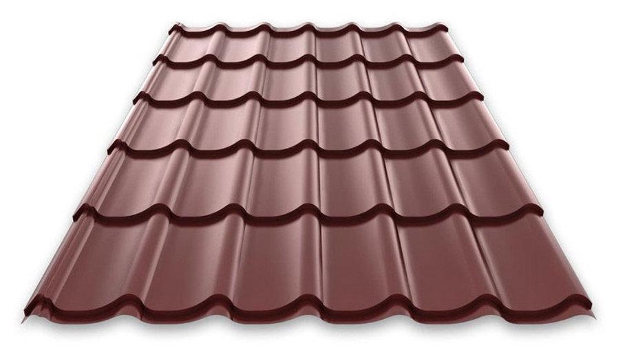 "Металлочерепица Монтеррей полиэстр RAL 8017 ""Шоколад"" 0,4мм Лист 2,95х1,19"
