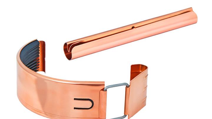 Водосток Aquasystem металл 125/90 Соединитель желоба в комплекте.