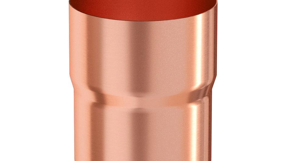 Водосток Aquasystem металл 125/90 Муфта трубы