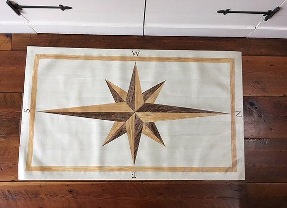 Compass Rose Rug - Faux Bois