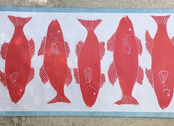Red Fish Runner Rug