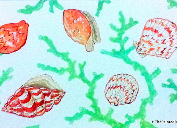 Coral with Shells Placemat