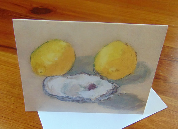 Oyster and Lemons Note Cards