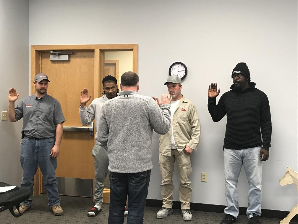 New members 10-18-18 at meeting