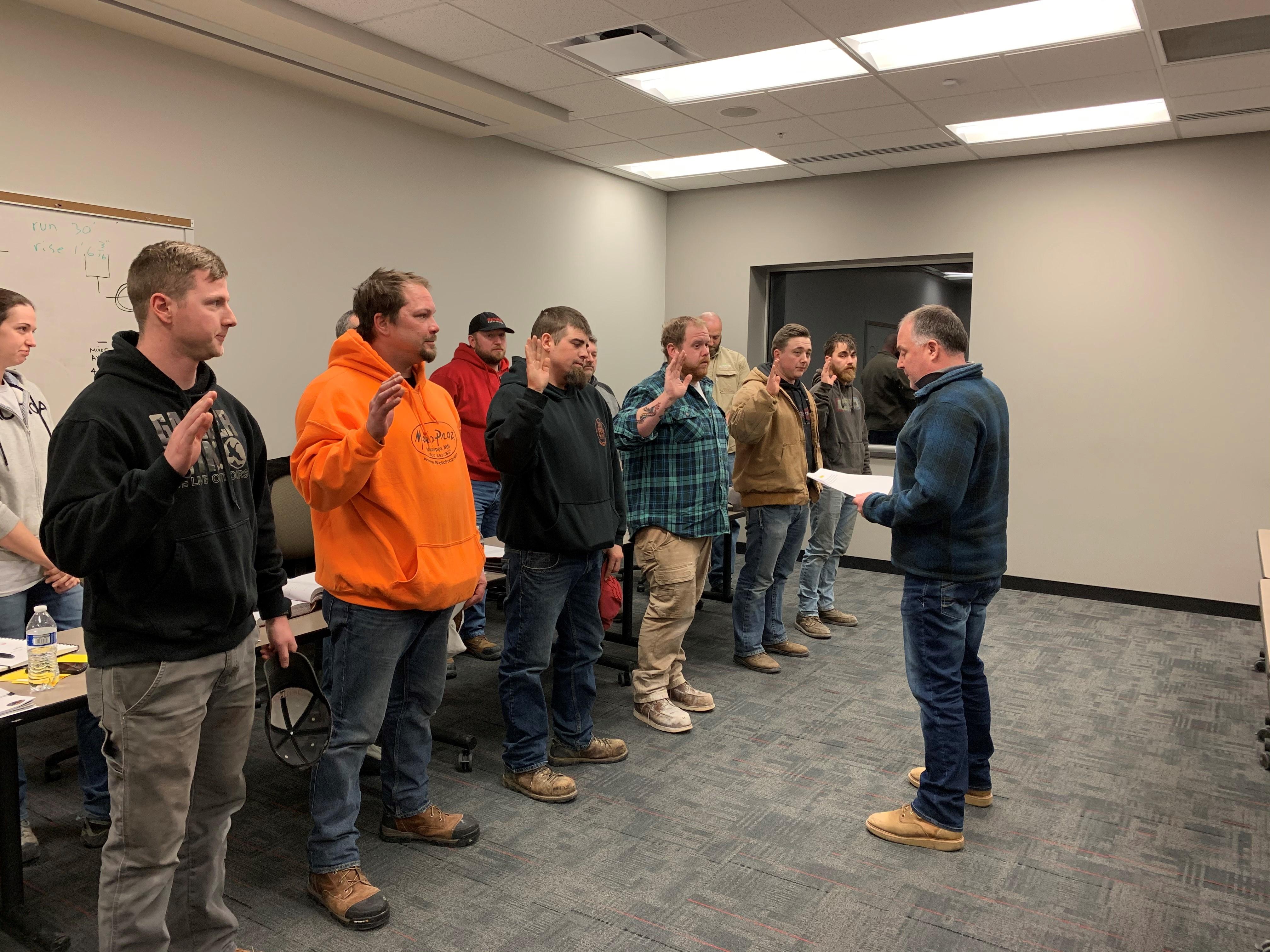 January 2020 meeting members sworn in