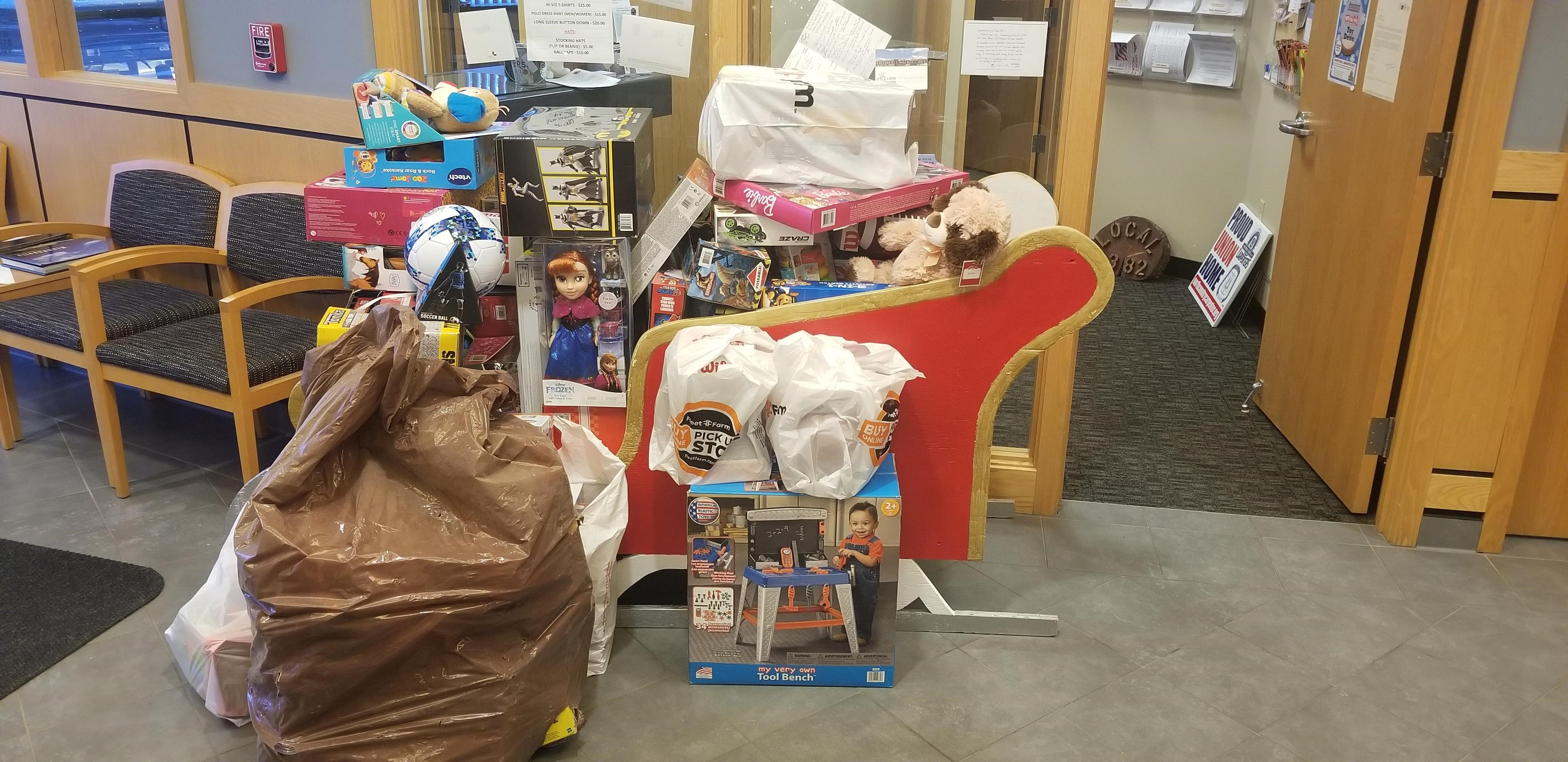 Toys for Tots box this year Dec 2019