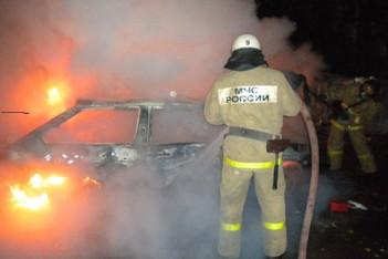 В деревне рядом с Ожерельем сгорел автомобиль