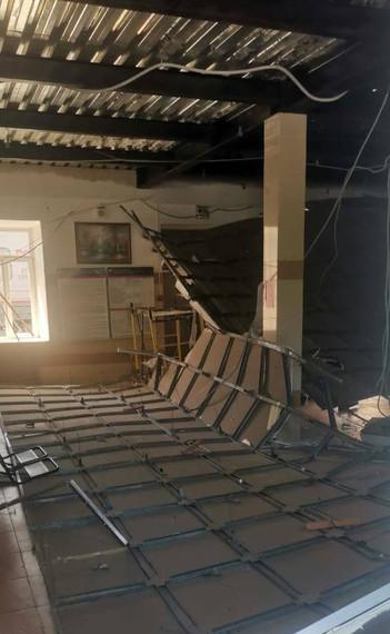 В Ожерелье на железнодорожном вокзале в зале ожидания обрушился потолок