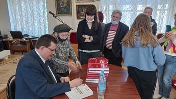 Андрей Голубев представил свою новую книгу в Краеведческом музее и в Совете ветеранов