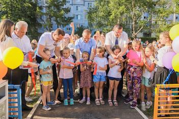 Глава округа Дмитрий Волков принял участие в открытии детской игровой площадки