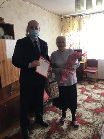 Поздравили с юбилеем Евгению Жиренкину