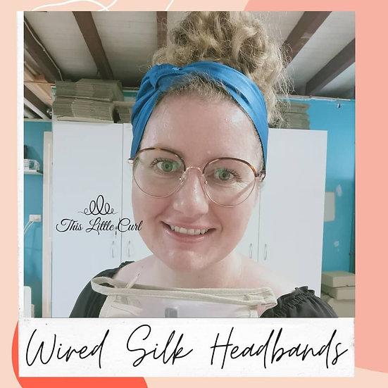 BlissSilk Wired  Mulberry Silk Headband