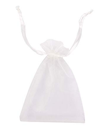 White Organza Retail Bag
