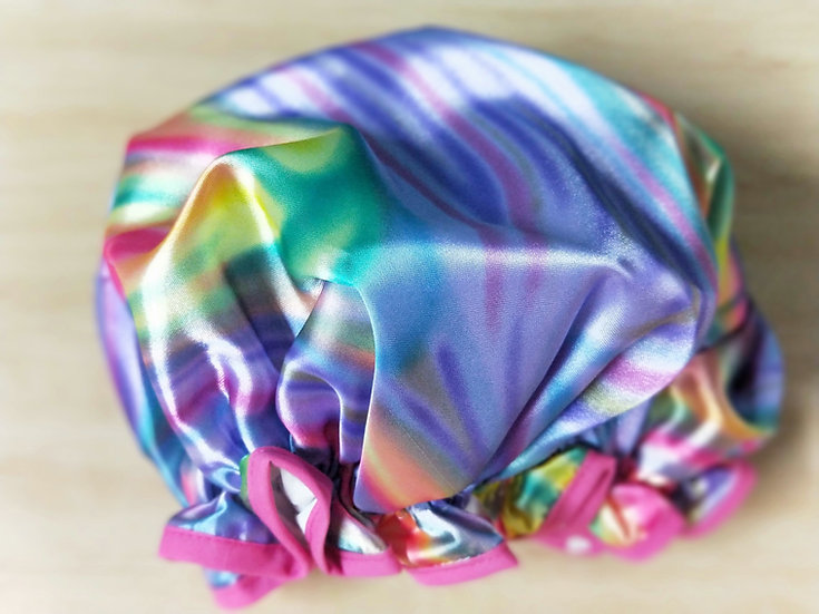 Rainbow Shower Cap