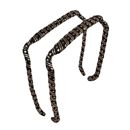 Aztec Gold on Black - Wrapped Zazzy Bandz