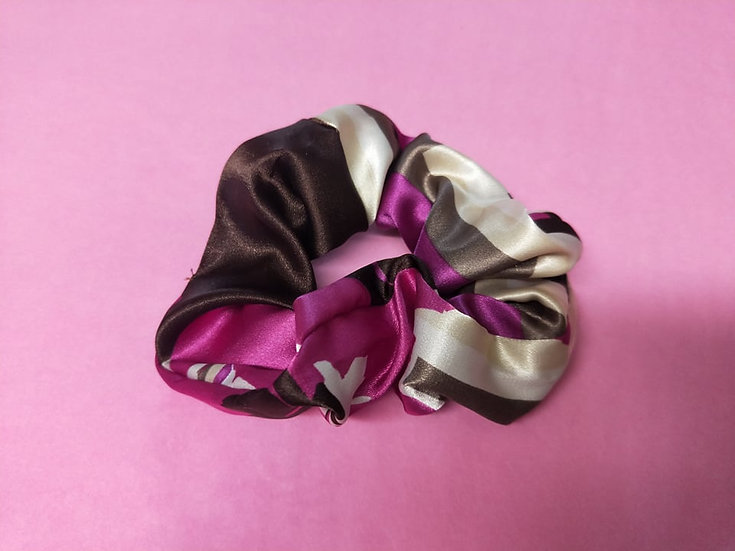 Tropical Holiday Satin Scrunchies