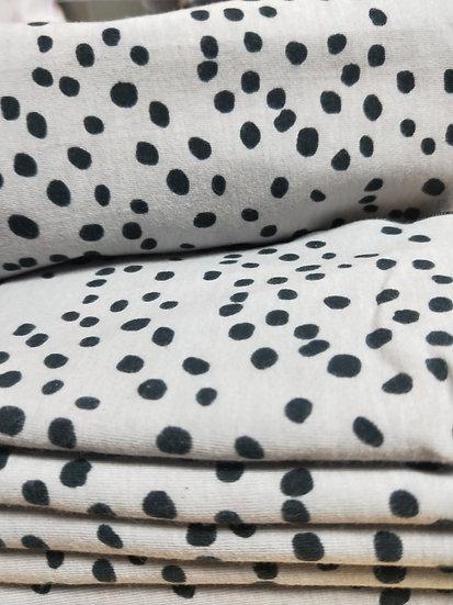 Grey Dalmatian Hair Crown Wrap