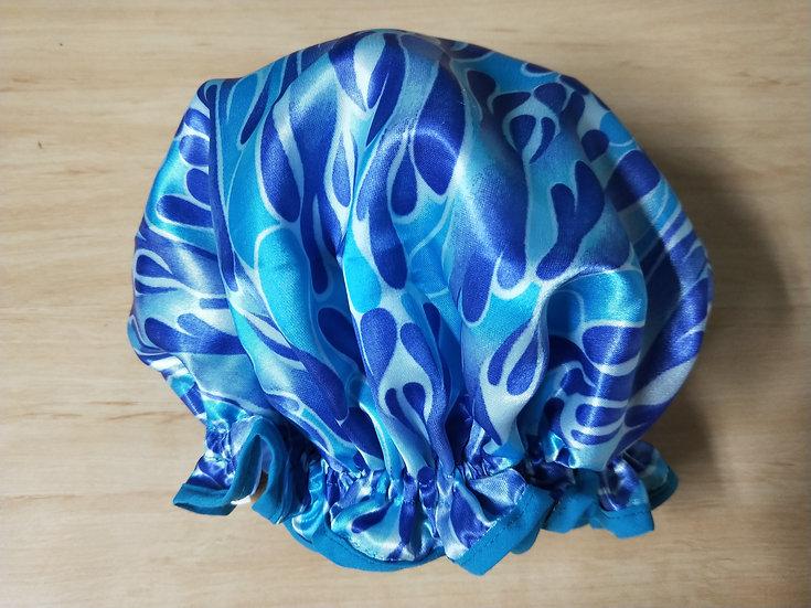 Blue Flame Shower Cap
