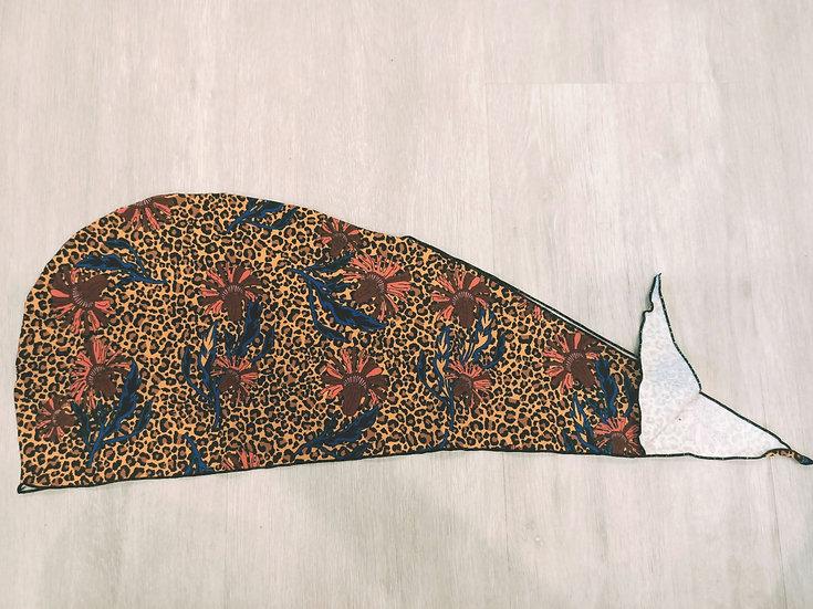 Leopard Queen Hair Crown Wrap