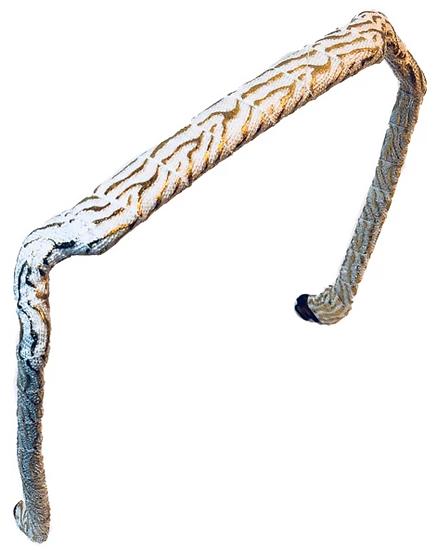Zebra Gold on White - Wrapped Zazzy Bandz