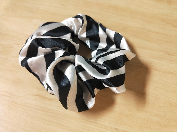 Zebra Satin Scrunchie
