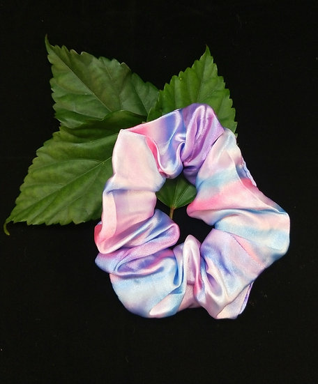 Purple Ice Satin Scrunchie