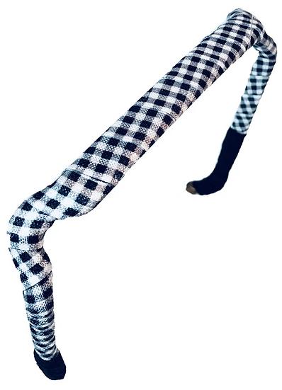 Gingham in White & Black - Wrapped Zazzy Bandz