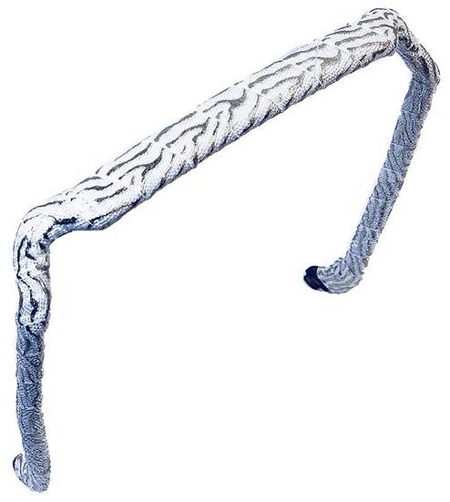 Zebra Silver on White - Wrapped Zazzy Bandz