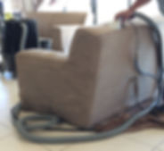 Upholstery steam cleaning in Cape Town, before and after