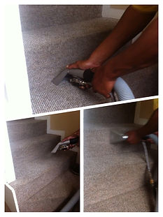 Carpeted staircase cleaning in Cape Town