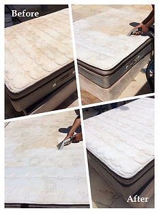 Mattress cleaning, before and after, in Cape Town