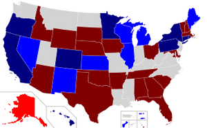 Midterm Election State Map From Wikipedia.org