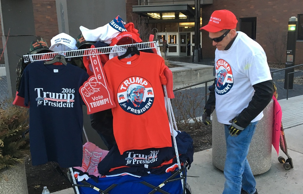 Trump Supporter Selling Trump Gear (From 2016)