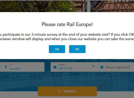 Rail Europe Website Blues...