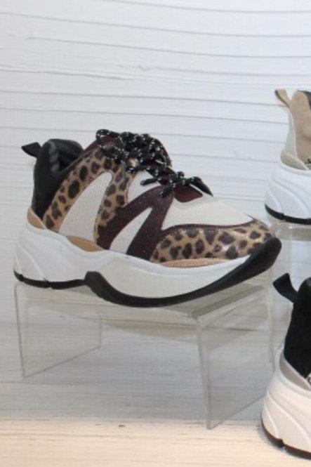 Sportschuhe Sneaker Bordo Leo Muster