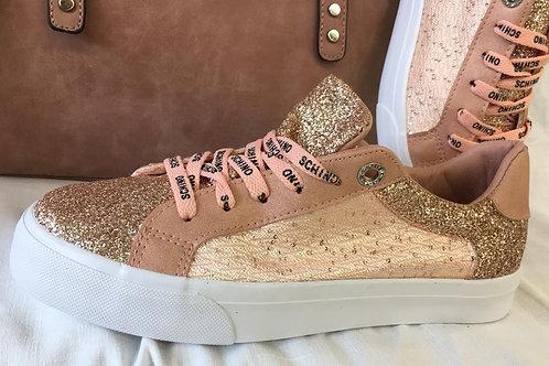 Sneaker rose-glitzer