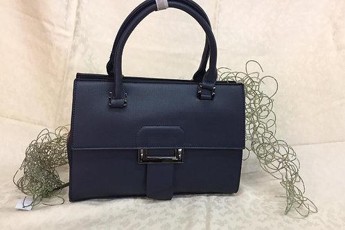 Handtasche Dunkelblau mit Bordo
