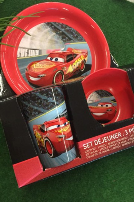 Kindergeschirr Kunststoff Cars  OVP