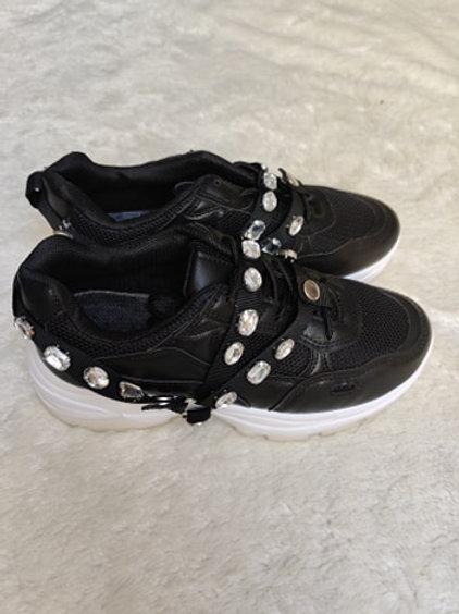 Sportschuhe Sneaker mit Strass Steine