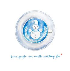 Christmas card - Snowman Latte