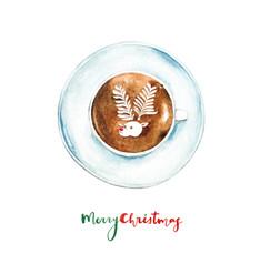 Christmas card - Reindeer Latte